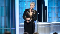 Meryl Streep accepts the Lifetime Achievement Award at the 74th Golden Globe Awards at the Beverly Hotel on Sunday in Beverly Hills.