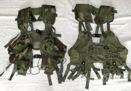 3x Woodland Vest, Tactical Load Bearing (Enhanced) – použité = 790Kč/ks