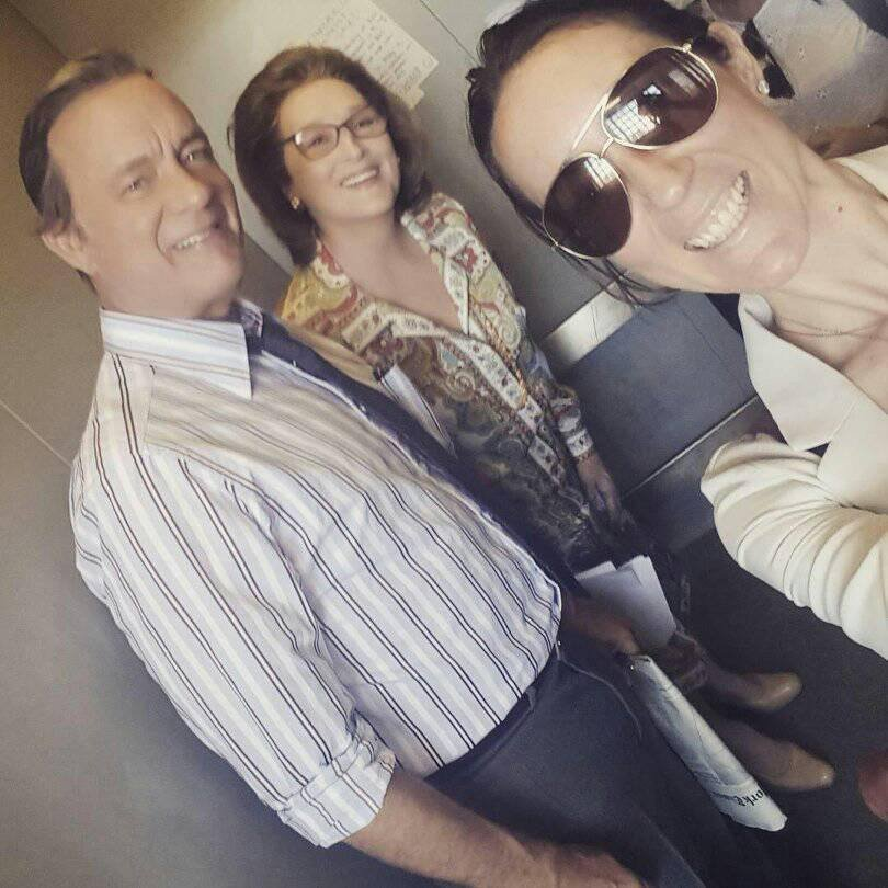 """The Papers"" - Meryl Streep, Tom Hanks, On Set, June 2017"