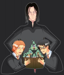 Harry, Ron, Severus