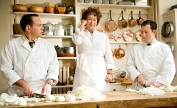 Food, glorious, food: Meryl Streep put on 15lb while making Julie and Julia, the new film about Julia Child, the six foot two American chef.
