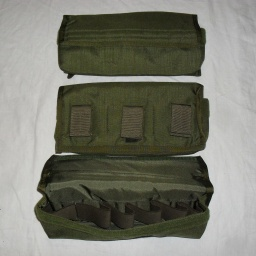 5x Ranger Green Eagle Industries 6x 40mm grenade belt pouch (29 x 15 cm) – nové = 490Kč/ks