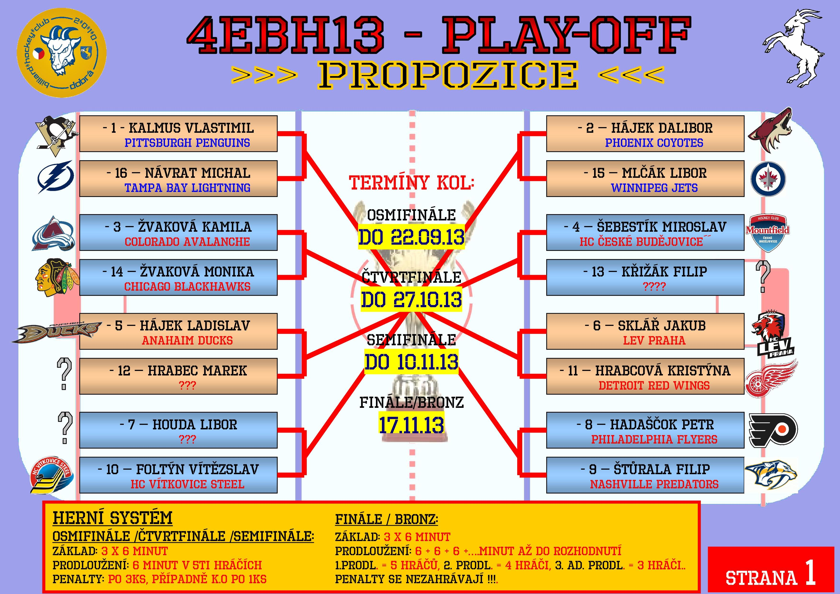 4EBH13 PLAY-OFF